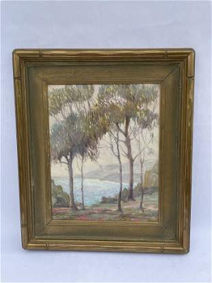 Walter Barron Currier River View Painting Signed 1923