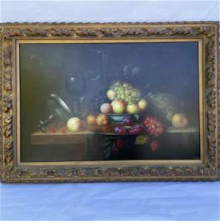 Still Life Oil on Canvas Old Master Style