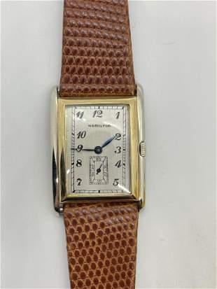 Vintage 14k Gold 2 Tone Hamilton Watch