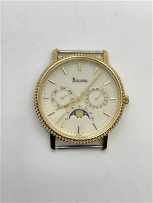 Vintage 14K Gold Bulova Moon Phase Watch