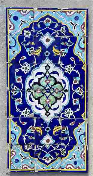 19th Century Islamic Middle Eastern 18 Tile