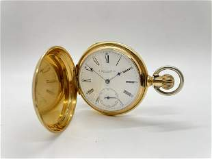 18k Gold E. Howard and Co Boston Pocket Watch