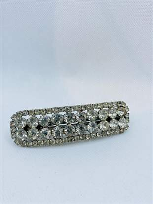 Vintage Made in France Costume Jewelry Hairy Clip Large