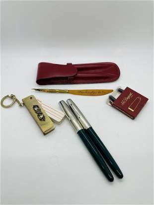 Vintage Lot of Writing Instruments Parker Dupont