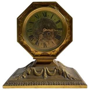 Large Bronze Tiffany & Co Artdeco Desk Clock