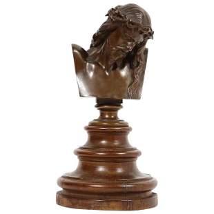 Jean-Baptiste Auguste Clesinger, French Bronze Bust of