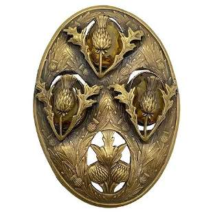 Joseff of Hollywood Scottish Thistle Brooch
