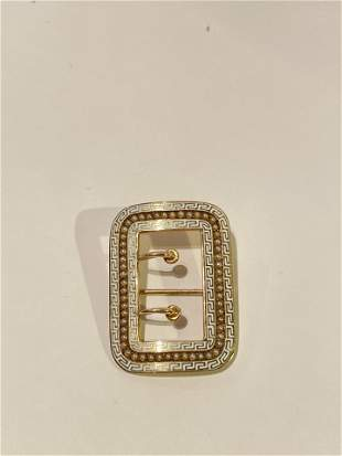 Antique Victorian 14K Gold and Enamel Rikers Brothers