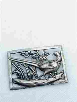 Norseland CORO Large Sterling Silver Vintage Brooch