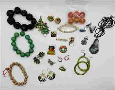 Lot of Costume Jewelry Monet Kramer Christmas Trees
