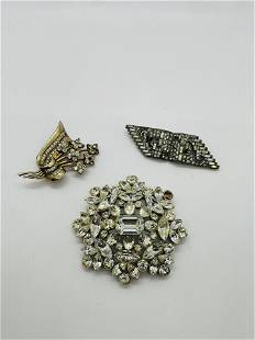 Lot of Vintage Coro Costume Jewelry Brooches