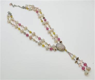 Vintage Italian Glass Beaded Necklace