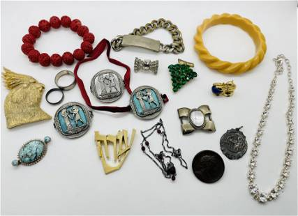Vintage Lot of Estate Costume Jewelry Mixed