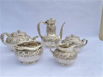 Sterling Silver Tiffany Tea Set