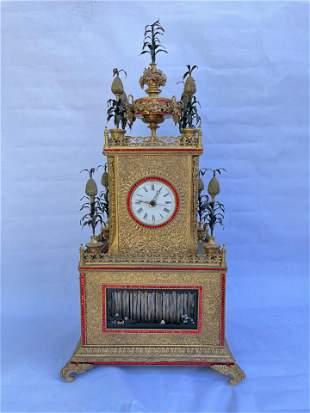 Rare Important Gilt Bronze Chinese Automaton Clock
