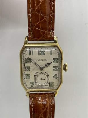 Vintage 14K Gold Waltham Large Face Watch