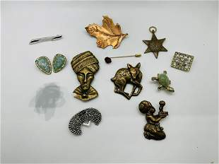 Lot of Mixed Costume Jewelry Animals Deer Turtle