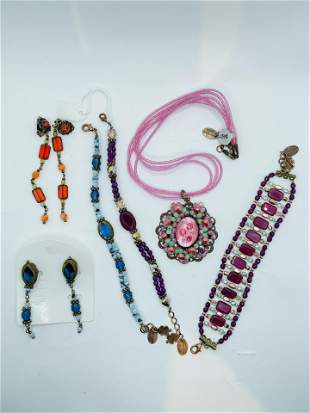 Vintage Sharagano Costume Jewelry Lot of 3 Necklaces