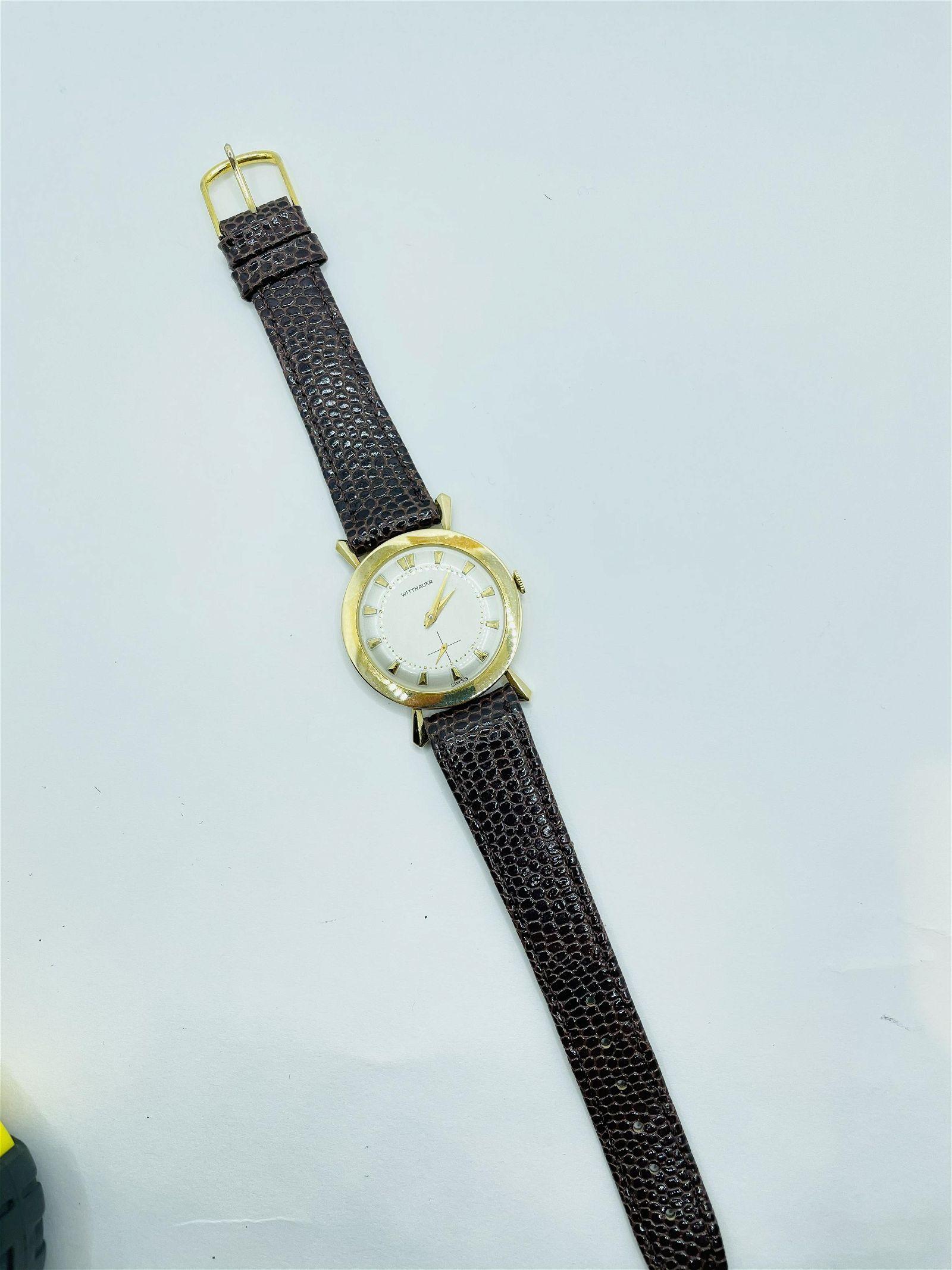 Vintage Longines Wittnauer 14k Gold Wrist Watch