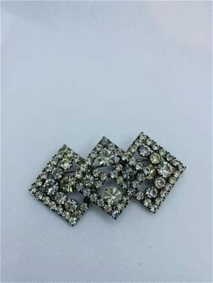 Vintage High Quality Rhinestone Brooch Pin Costume