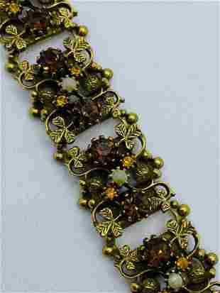 Vintage Quality Costume Jewelry Rhinestone Bracelet