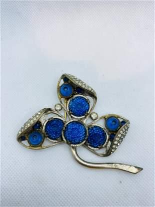 Vintage High Quality Costume Jewelry Brooch Rhinestone