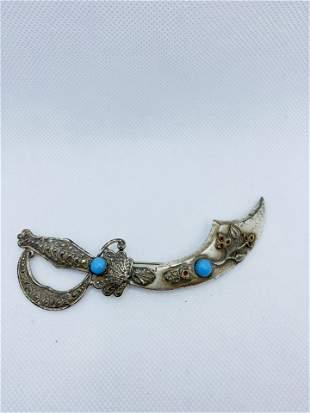LARGE Vintage Costume Jewelry CORO Brooch Sword