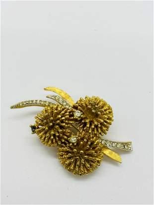 RARE Vintage High Quality CORO Costume Jewelry Brooch