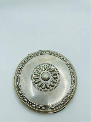 Large Art Deco Volupte Sterling Silver Compact