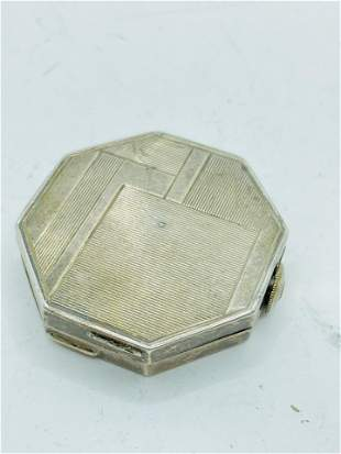 Art Deco Sterling Silver Powder Compact