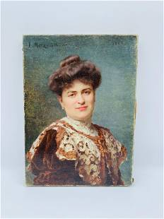 Emile Pierre Metzmacher (French, 1815-1890) Portrait of