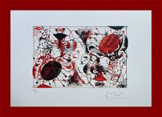 Joan Mir  Red and Black One Plate