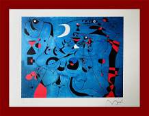 Joan Mirò - Figures at Night: Slugs