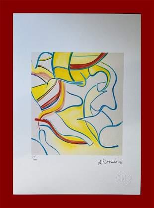 Willem De Kooning - Four Lithographs: Plate I