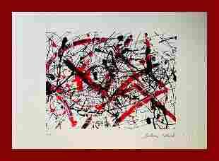 Jackson Pollock - Black, White and Red