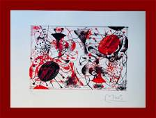 Joan Mirò - Red & Black: One Plate