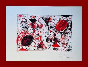 Joan Mirò - Red & Black: One Plate