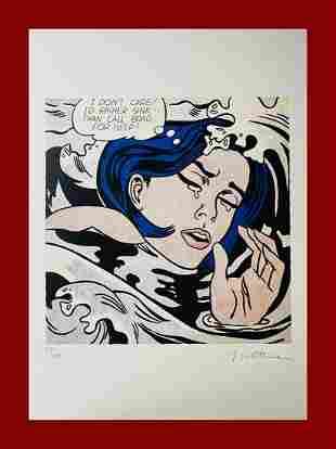 Roy Lichtenstein - Drowning Girl