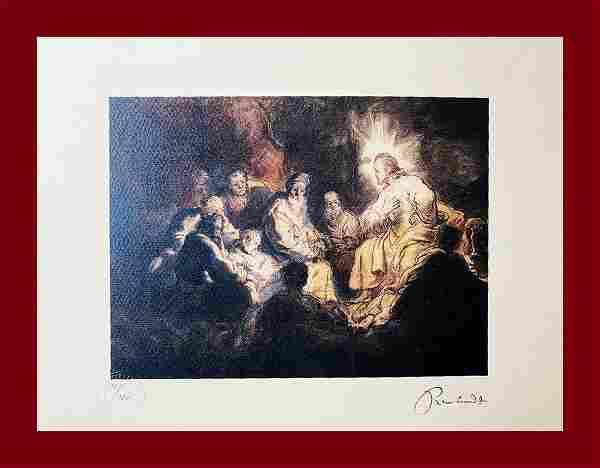 Rembrandt Van Rhijn - Jesus and his Disciples