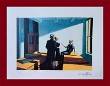 Edward Hopper - Conference at Night