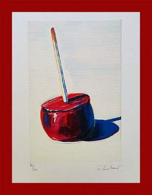 Wayne Thiebaud - Candy Apple Cigar Box