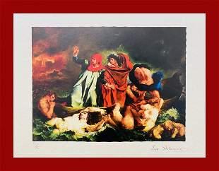 Eugene Delacroix - Dante's Boat