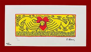 Keith Haring Hands and Heart