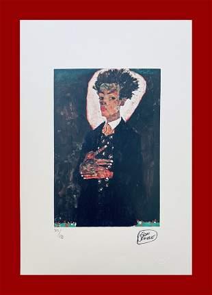 Egon Schiele - Selfportrait with Gilet
