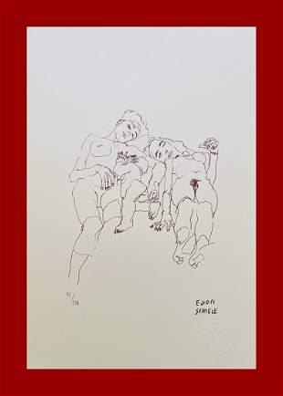 Egon Schiele - Mother & Daughters