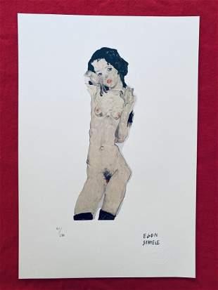 Egon Schiele - Young Girl