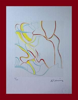 Willem de Kooning - Fourth Lithograph