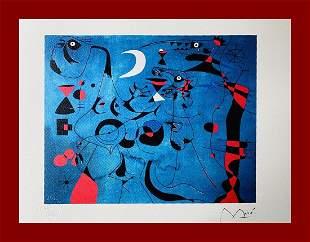 Joan Mirò - Figures at night: Slugs