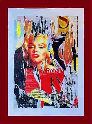 Mimmo Rotella - Marilyn Monroe