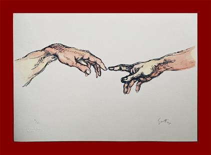 Renato Guttuso - From Michelangelo
